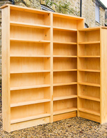 High-quality hand-crafted bookcases and Shelving